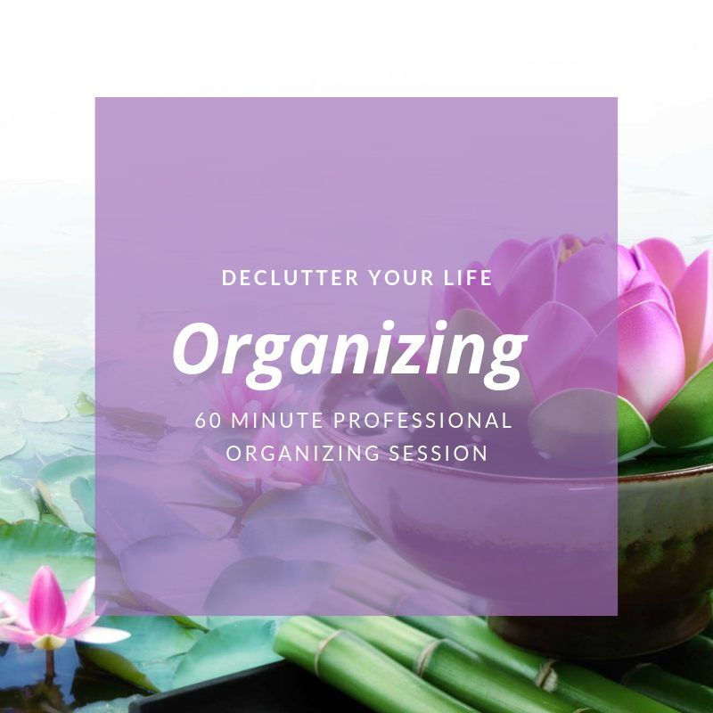 Declutter your life professional organizing session