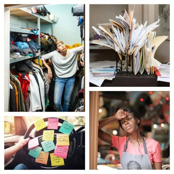 Home and Office clutter are overwhelming two women